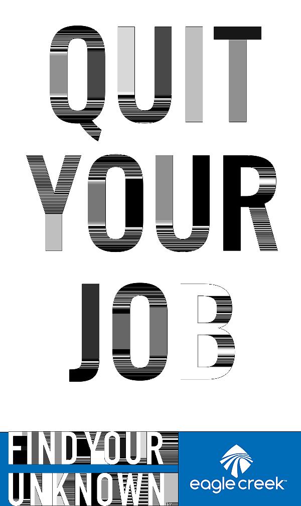 QUIT YOUR JOB by eaglecreek.eu